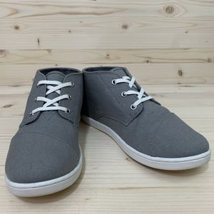 TOMS Gray & White Flat Ankle Booties